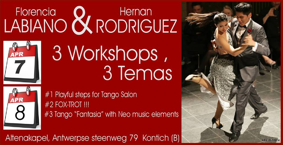 Tango Belgium Workshops – Flor & Hernan – come with us!